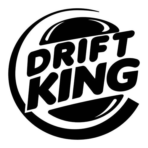 Drift King Laptop Car Truck Vinyl Decal Window Sticker PV Car - Car vinyl decals