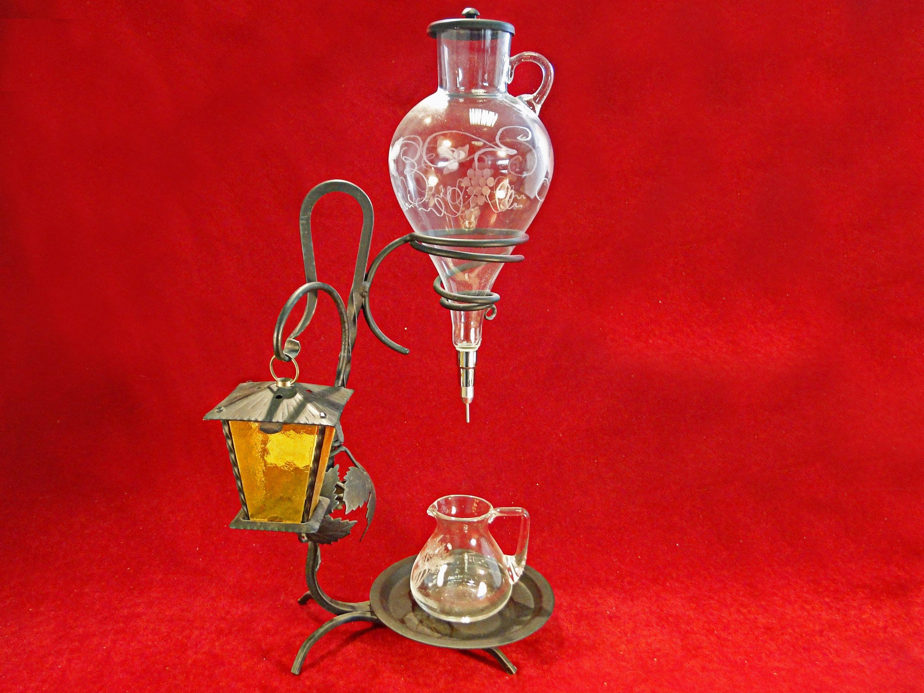 29 A Wacky Vintage Wrought Iron Wine Dispenser Est 15 25 Wine Dispenser Absinthe Fountain Wrought