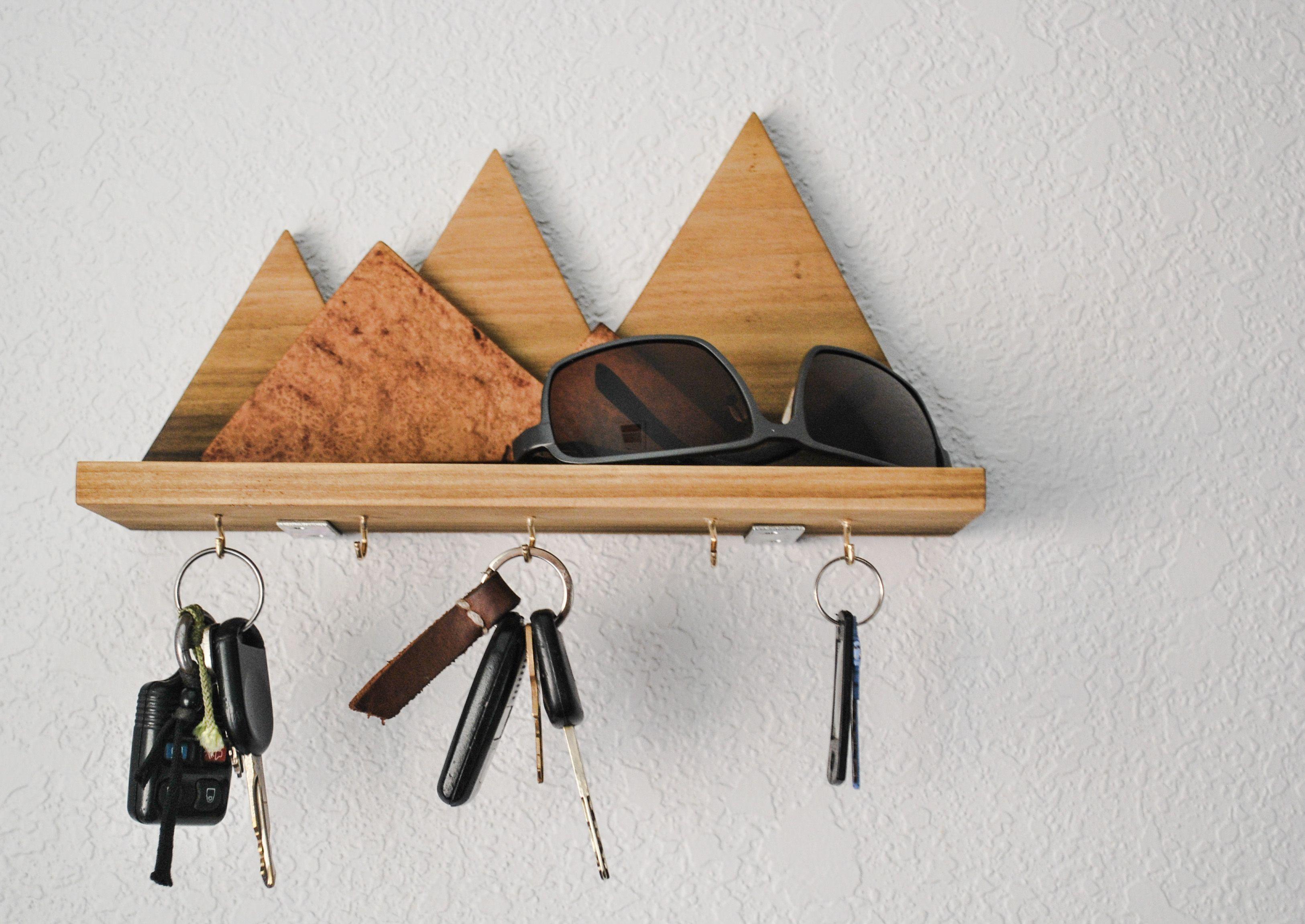 Make This Wooden Mountain Key Rack Key Holder Diy Key Rack Diy Wooden Diy