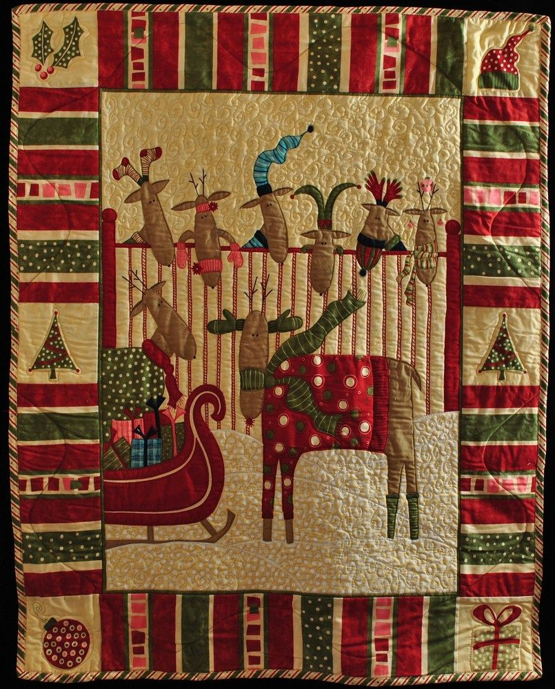 whimsy reindeer quilted wall hanging http://www.quilts4allseasons ... : crazy eights quilt pattern - Adamdwight.com