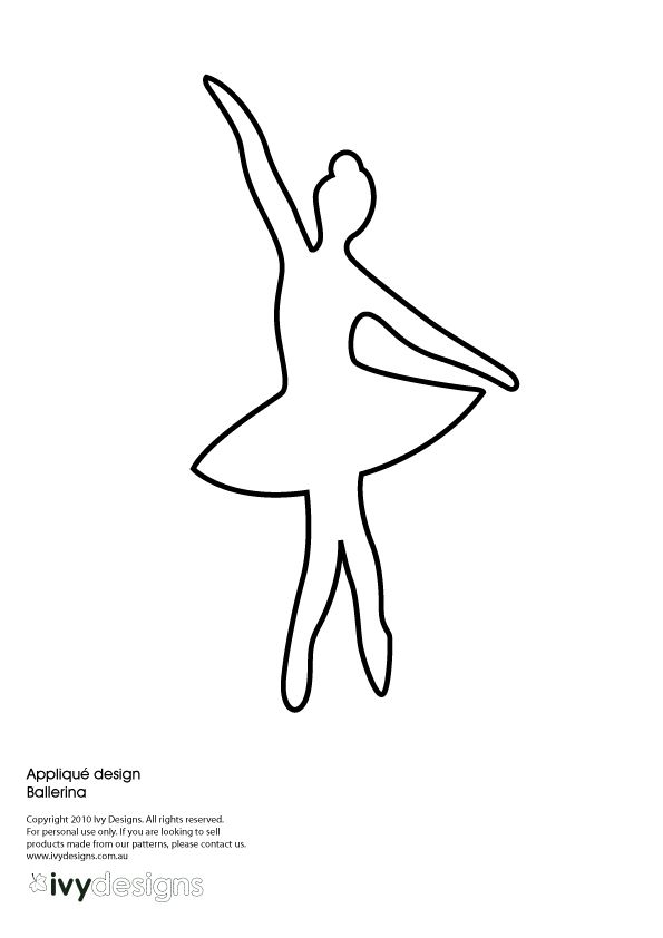 some cute applique templates ballerina pinterest diy couture