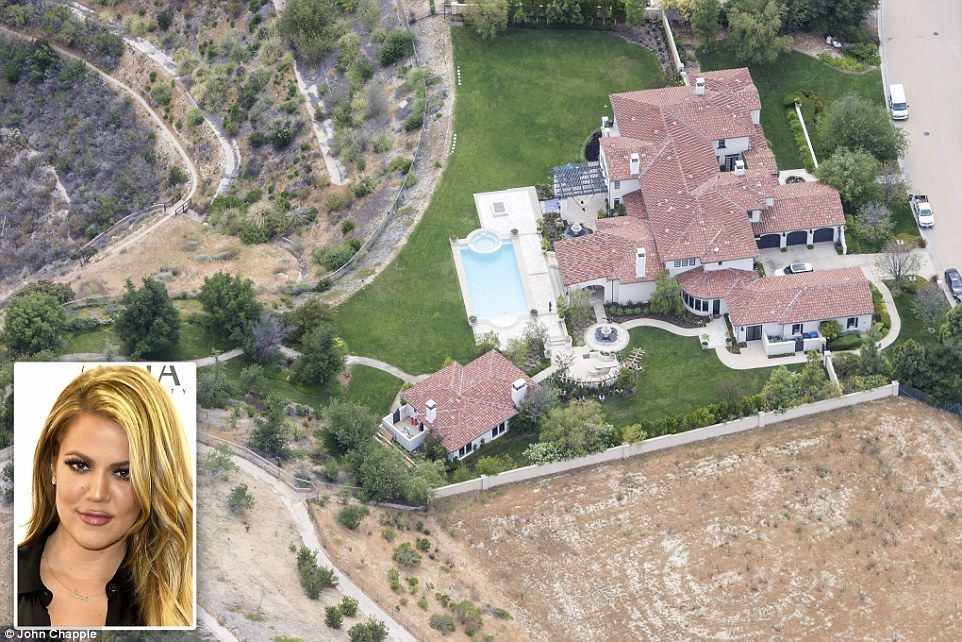 Aerial photos expose celebrities continuing to water lawn