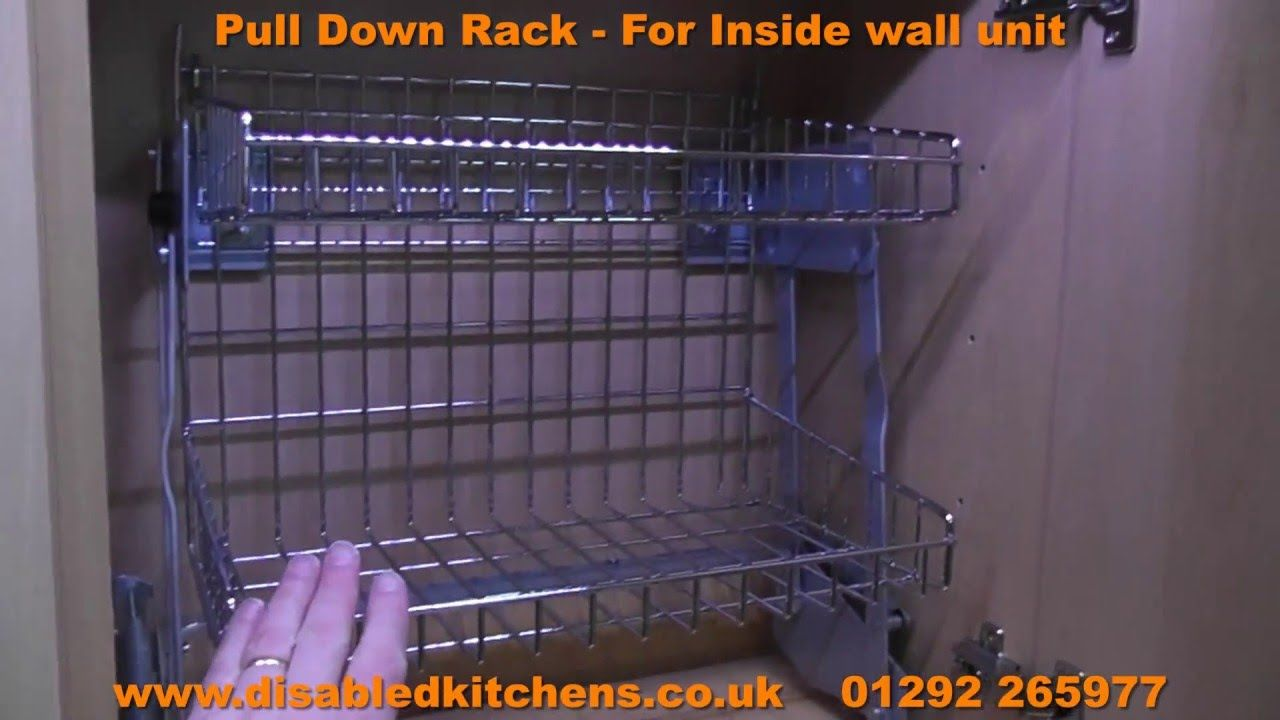 Pull Down Shelves From Disabled Kitchens Call 01292 265977 Or Visit Http X2f X2f Www Disabledkitchens Co Uk All Pull Down Shelf Shelves Kitchen Shelves