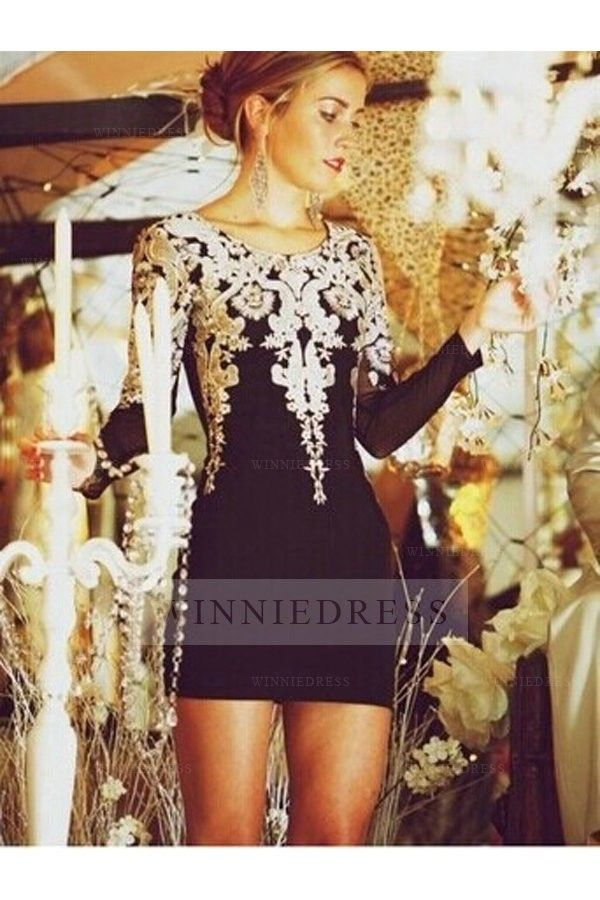 Black Short Tight Fitted Homecoming Dresses