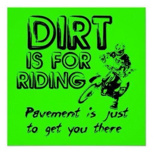 Pavement dirt bike motocross poster by allangee