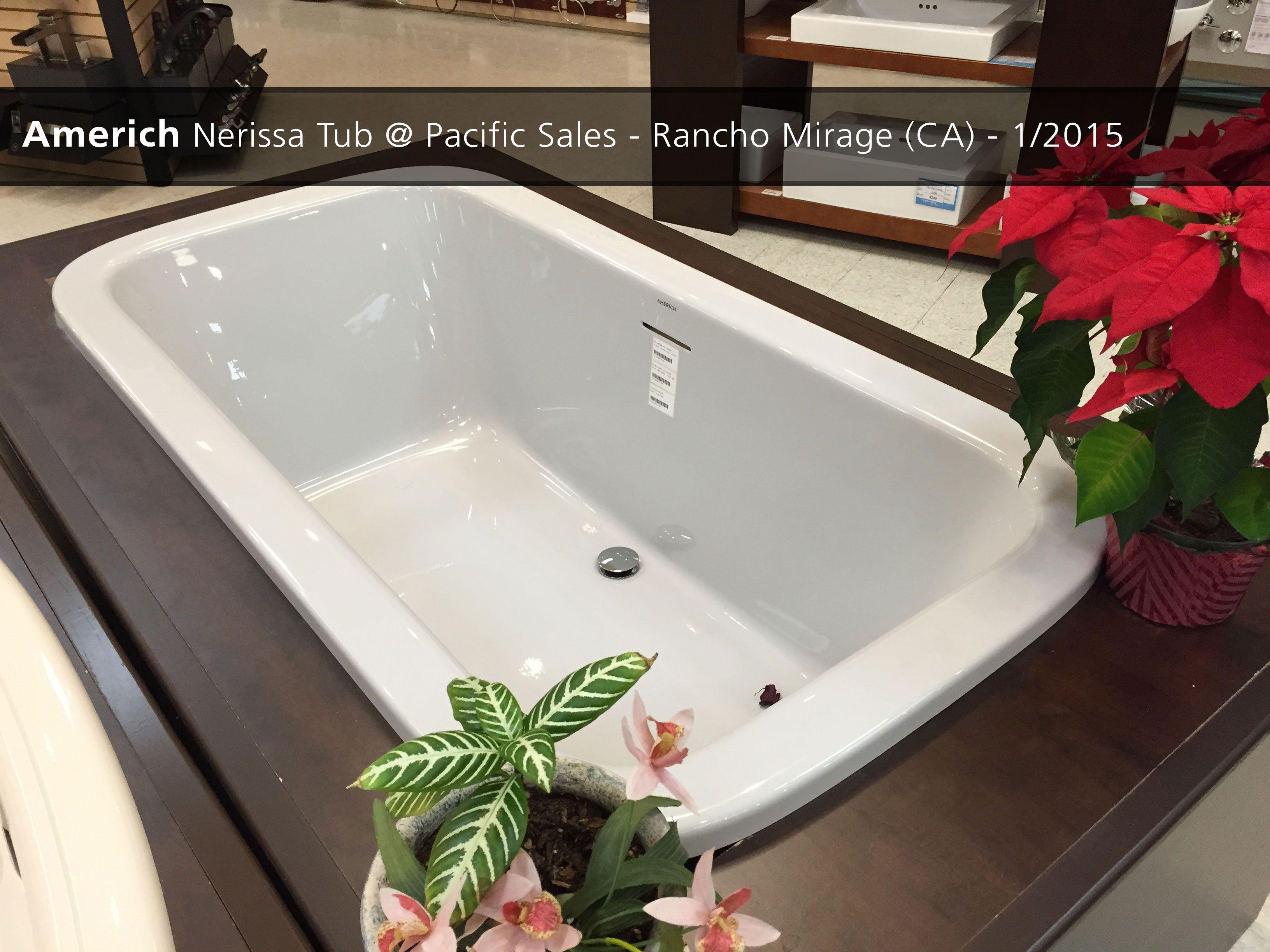 Americh Nerissa Tub PacificSales In RanchoMirage CA - Pacific sales bathroom faucets for bathroom decor ideas