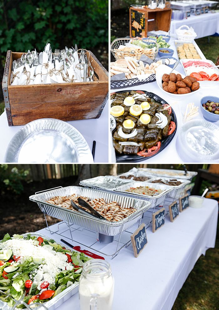 Our backyard engagement party details the food utensil for What to serve at a bbq birthday party