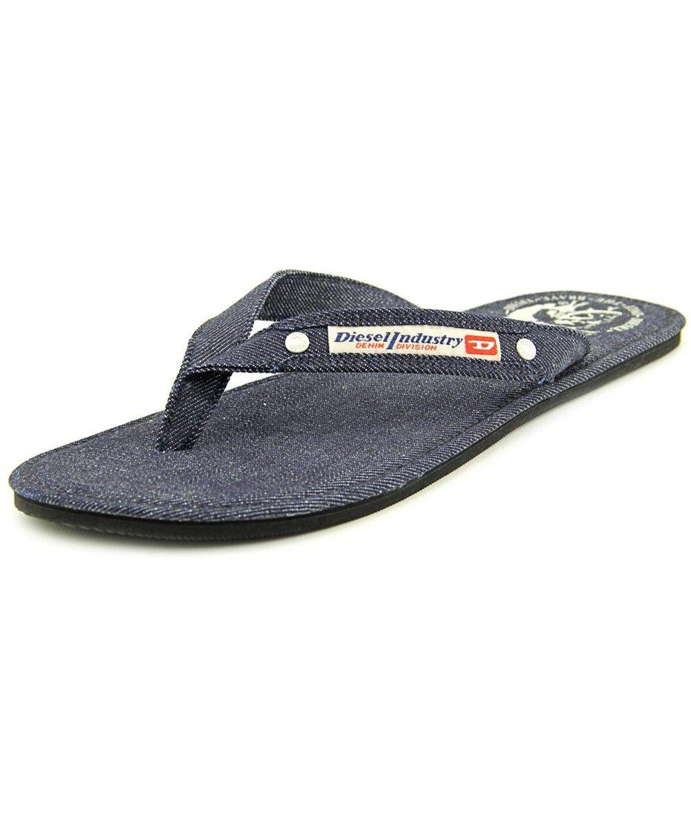 65d1c2744420 DIESEL Diesel Seaside Men Open Toe Canvas Blue Flip Flop Sandal .  diesel   shoes  sandals