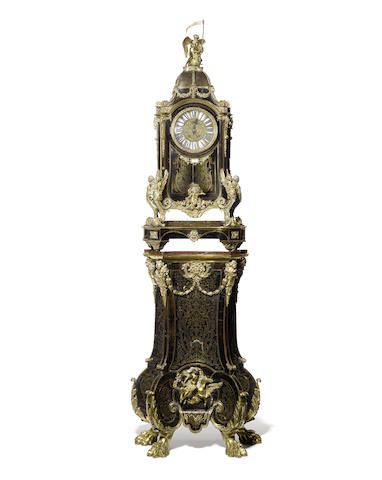 A 19th Century French Boulle bracket clock, (two small hairlines on the glass)