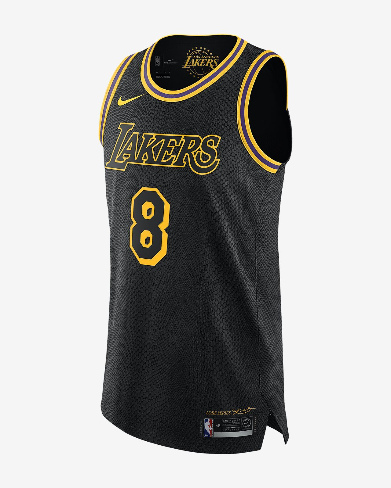 outlet store fa5f0 337e7 Kobe Bryant City Edition Authentic (Los Angeles Lakers) Men s Nike NBA  Connected Jersey