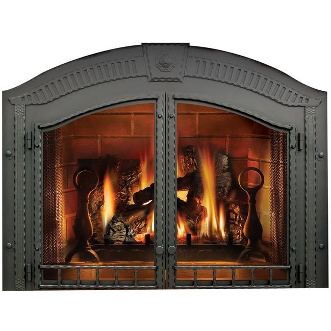 Napoleon H335wi High Country Arched Fireplace Double Doors Wrought Iron Fireplace Doors Fireplace Country Fireplace