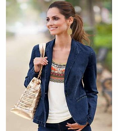 Together Denim Blazer Our stylish denim blazer is the perfect choice for effortless summer dressing. A classic style that will never date