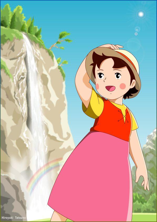 Pin de he di en c 39 tait trop bien dessin anim dessin anim japonais y dessin - Haidi dessin anime ...