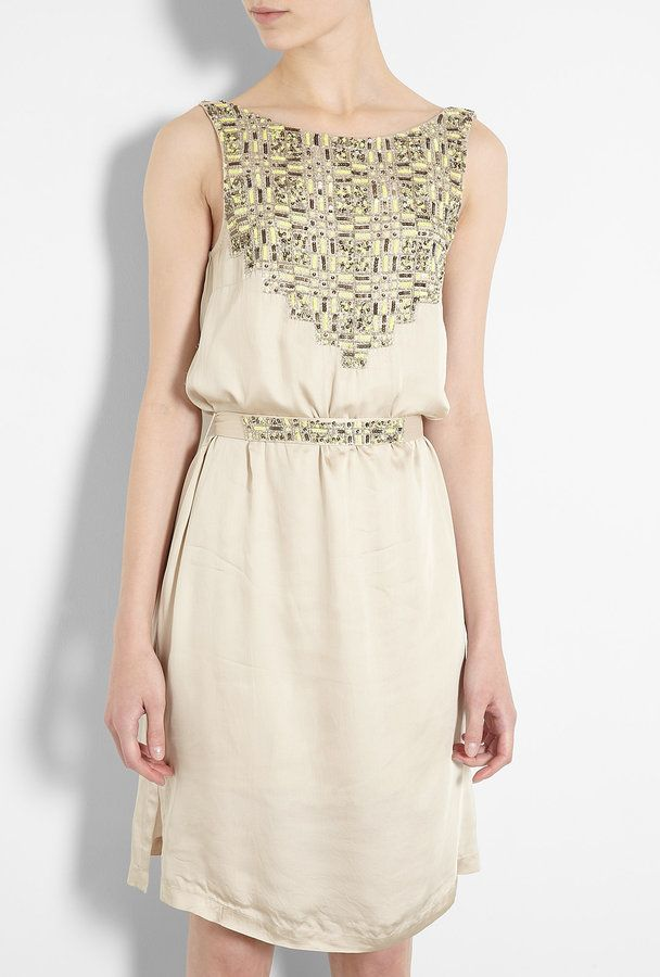 DAY Birger Et Mikkelsen Camille Frangipani Sequin Embellished Sleeveless Dress