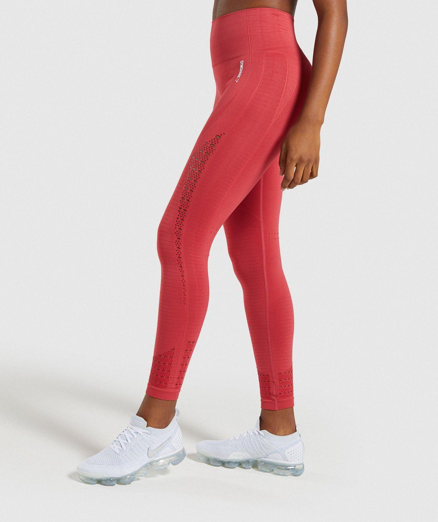 29f0214de5863 Gymshark Energy+ Seamless Leggings - Red | Women's Energy Seamless  Collection | Gymshark
