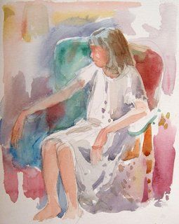 Girl in Easy Chair