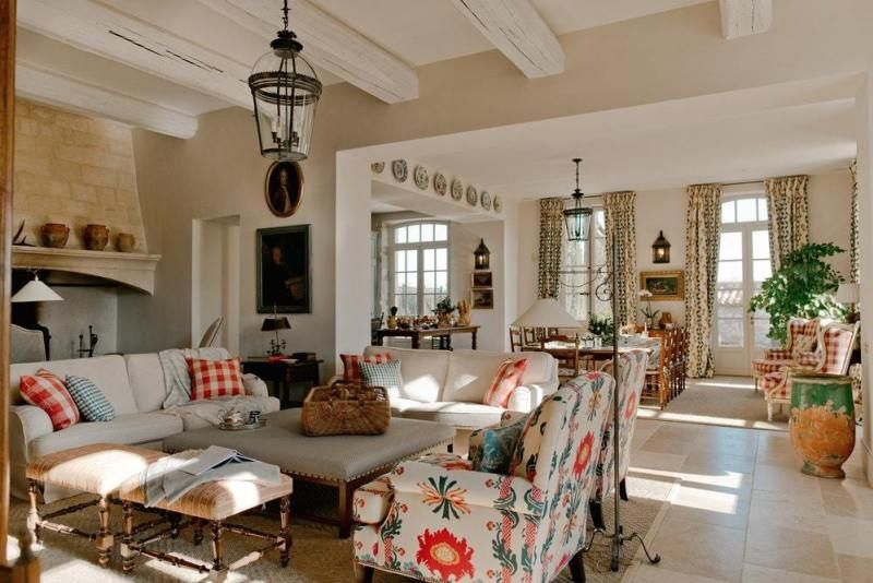 A Fabulous French Farmhouse The Glam Pad French Country Living Room Country House Decor French Country Decorating