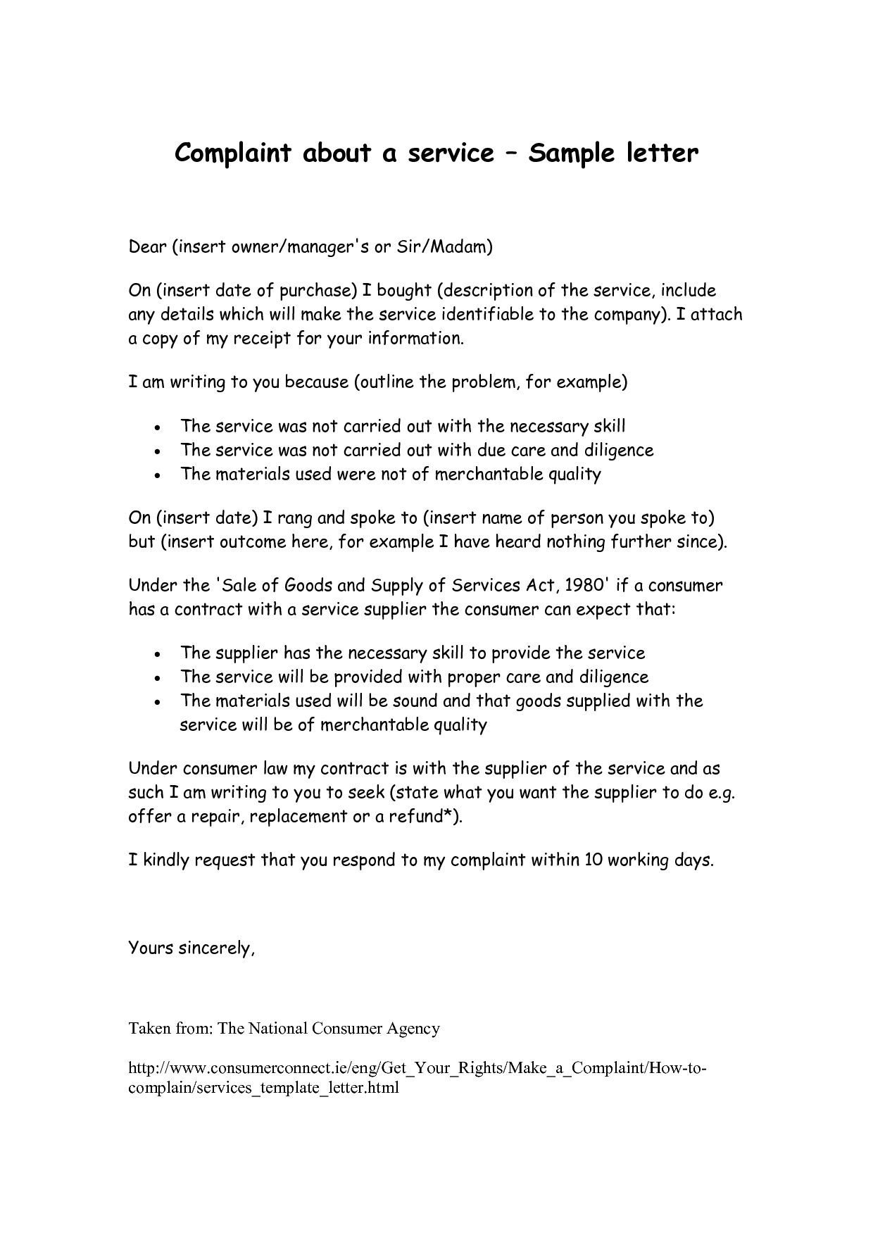 Complaint Service Letter For Poor Pdf Com Photos Bad Restaurant And Hotel Templates V