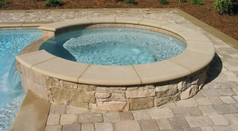 Mesmerizing cast concrete pool coping with inground for In ground pool coping ideas
