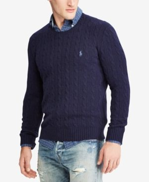 2eb2d9576 Polo Ralph Lauren Men s Cable-Knit Wool and Cashmere Blend Sweater ...