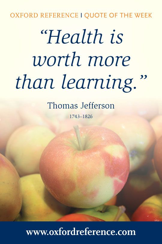 We look to a quote by Thomas Jefferson for World Health Day on 7