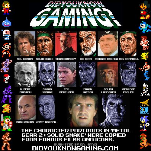 Did You Know Gaming Metal Gear Metal Gear Games Metal Gear Solid
