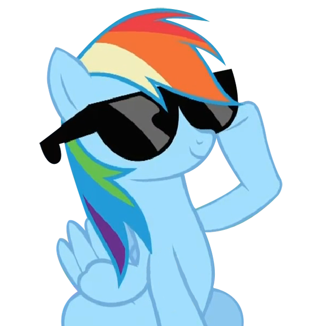 rainn bow dash | Rainbow Dash Rainbow with her glasses this is cool/ funny!