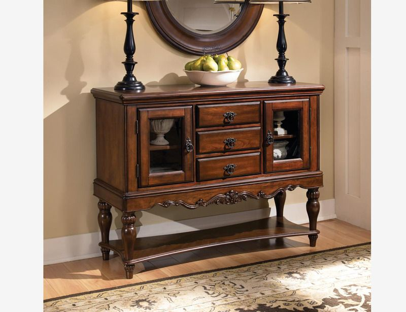 Coaster 103514 Transitional Cherry Wood Server Cabinet Table Sideboard BuffetBuffet TablesTraditional StylesBuffetsDining