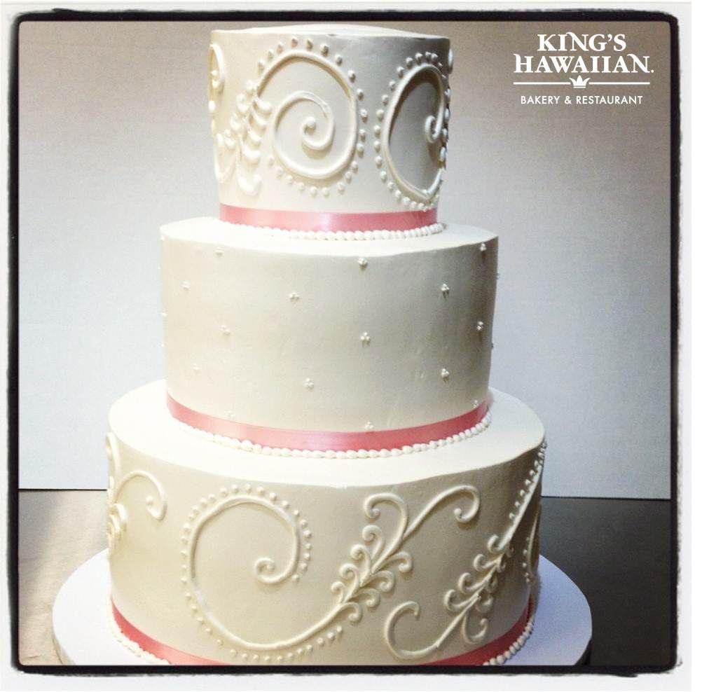 Wedding Cake Pink Kingshawaiian King S Hawaiian Bakery Restaurant Torrance Ca