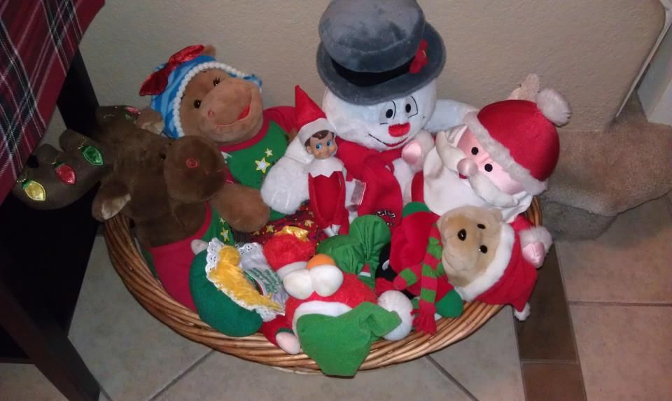 Elf On The Shelf Ideas Hang Out With The Stuffed Animals Elf On