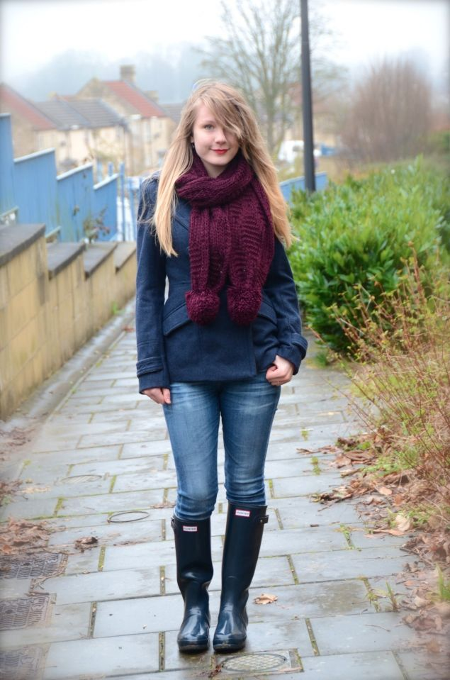 3684bddbf8 My Navy Hunter Wellies Outfit