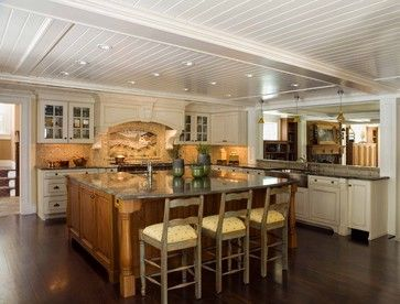 "Kitchen Island 4 X 8 4"" v-groove panels from nantucket beadboard company available in 4"