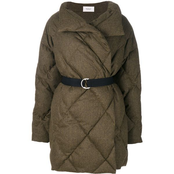 Pringle Of Scotland belted quilted puffa coat ($2,214) ❤ liked on ...