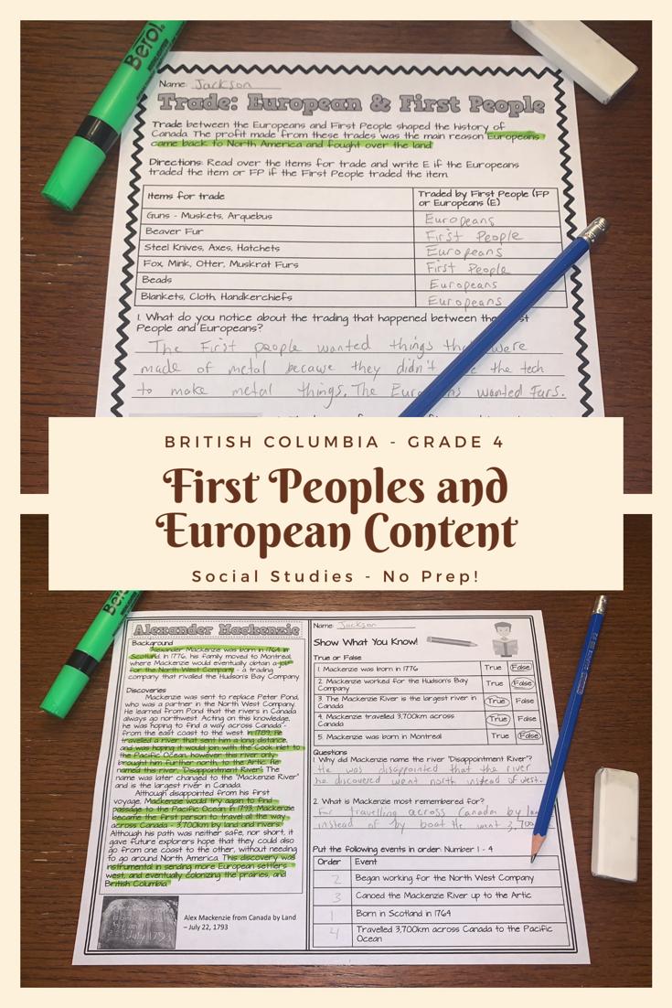 68 British Columbia Social Studies Worksheets ideas   social studies  worksheets [ 1102 x 735 Pixel ]