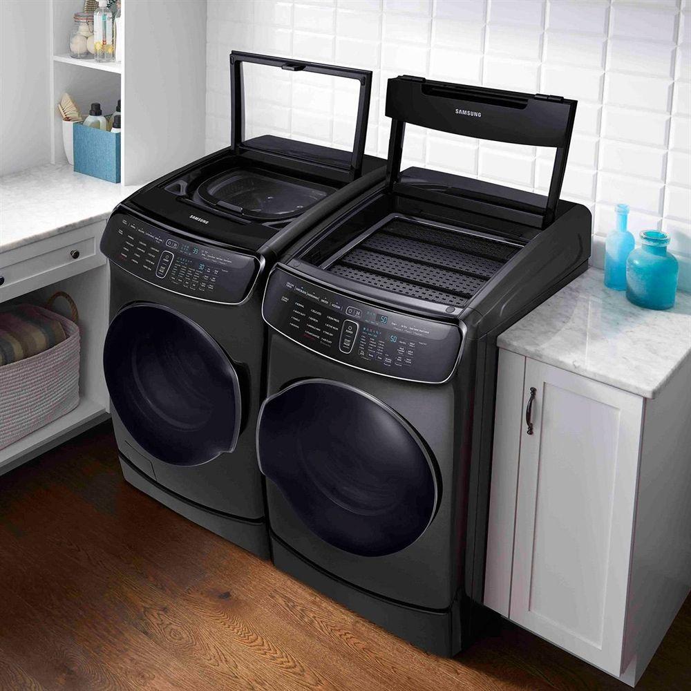 Shop Samsung Wv60m9900av Dve60m9900v Flex Washer Dryer Set At