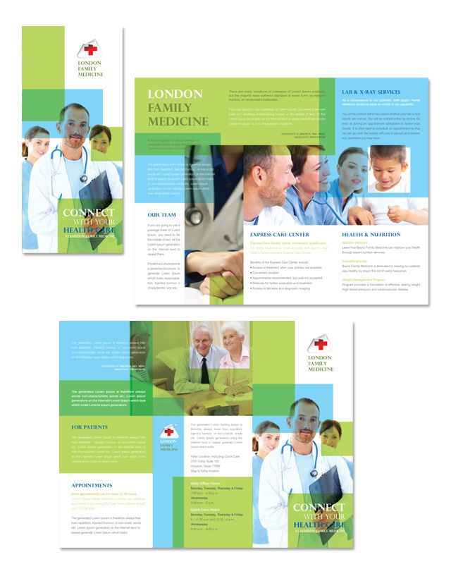 Family Medicine Clinic Tri Fold Brochure Template    www - school brochure template