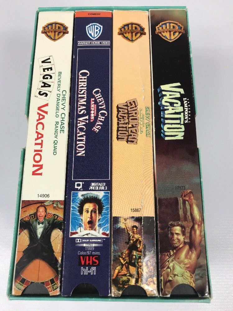 National Lampoon's Vacation VHS Lot Of 4