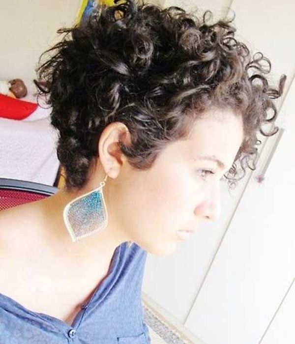Short Curly Hairstyles For Womens Cabelo Curto Encaracolado