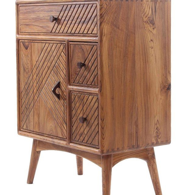 Small Wooden Cabinet With Drawers Made With Teakwood Solid