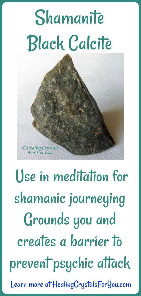 Shamanite Black Calcite Meaning & Uses: Powerful Protection