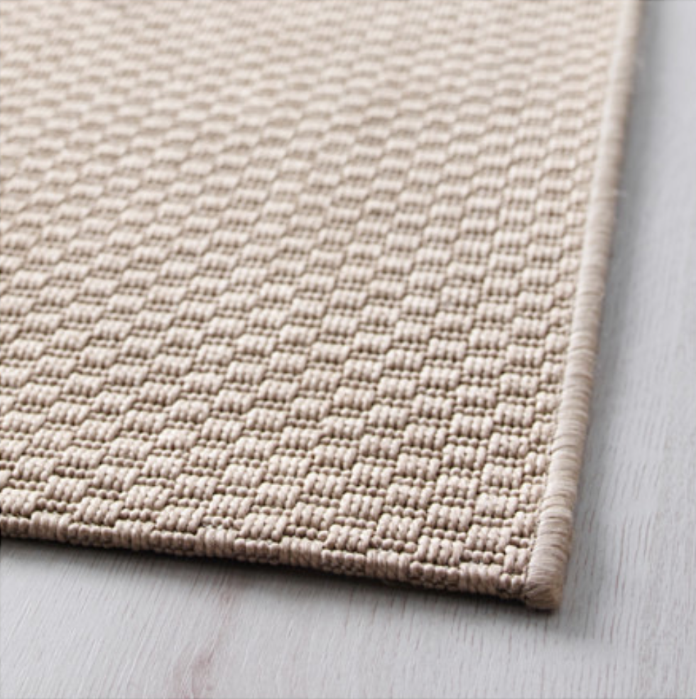 Ikea Morum Indoor Outdoor Beige Rug Flatwoven In
