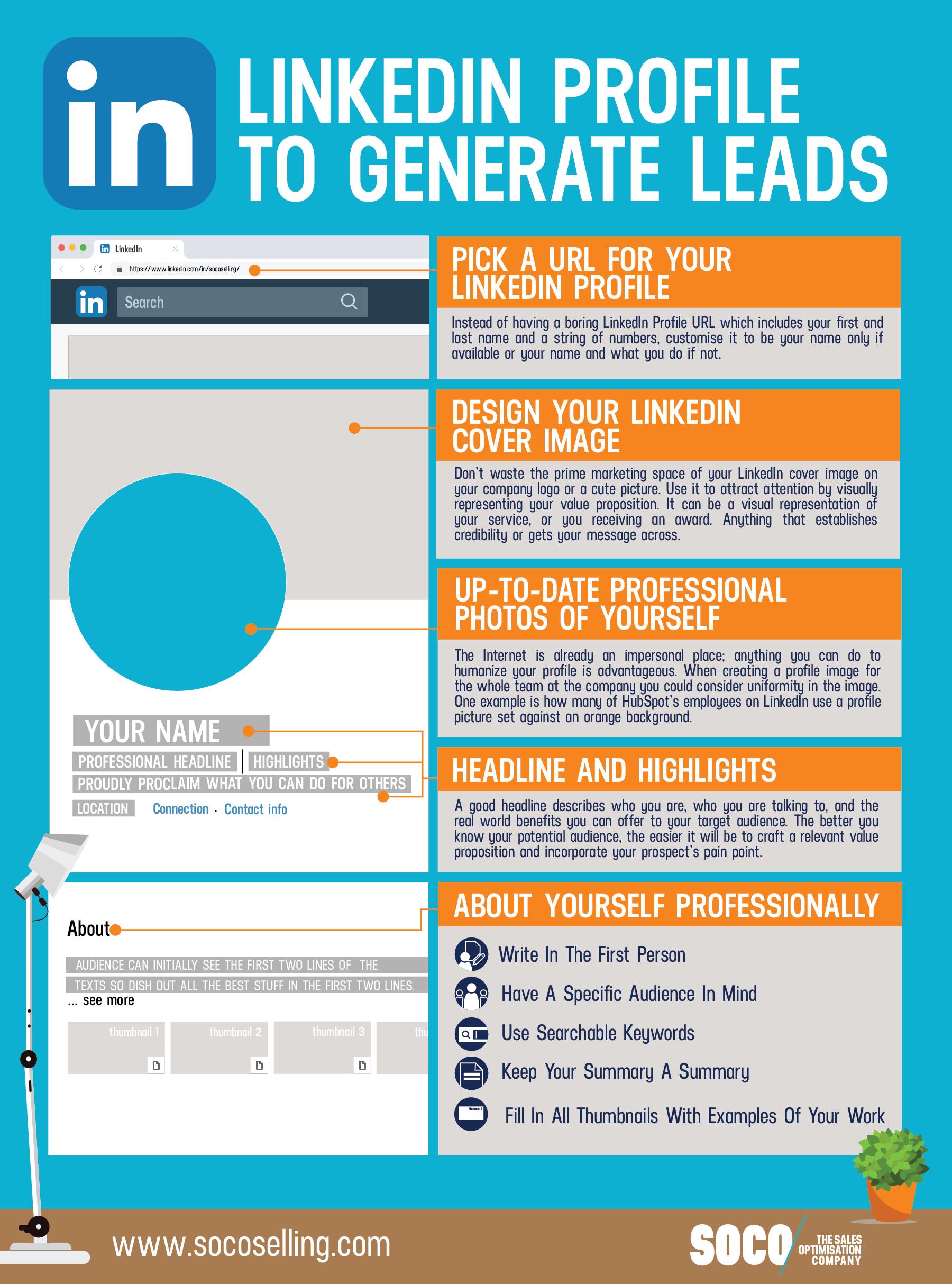 Linkedin Profile To Generate Leads Linkedin Marketing Linkedin Profile Instagram Marketing Tips