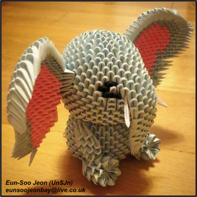3D Modular Origami Elephant Side View By UNSJNdeviantart On DeviantArt More