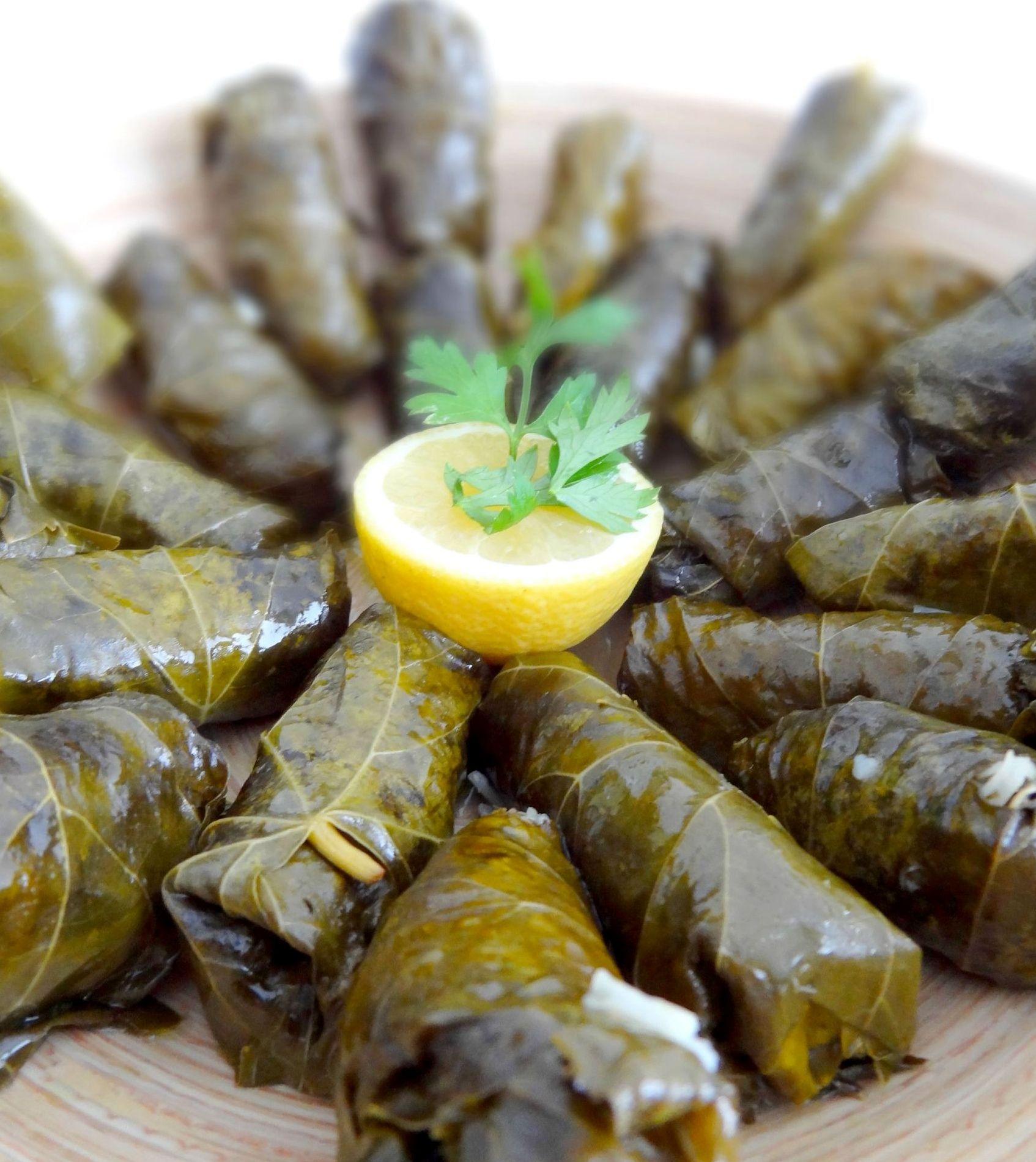 Feuilles de vigne farcies recette libanaise recettes cuisiner feuille de vigne farcie - Feuille de cuisine ...