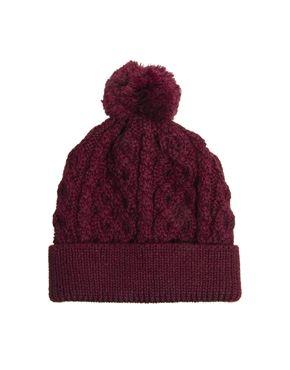 6e252db57ee ASOS Bobble Beanie In 100% British Wool