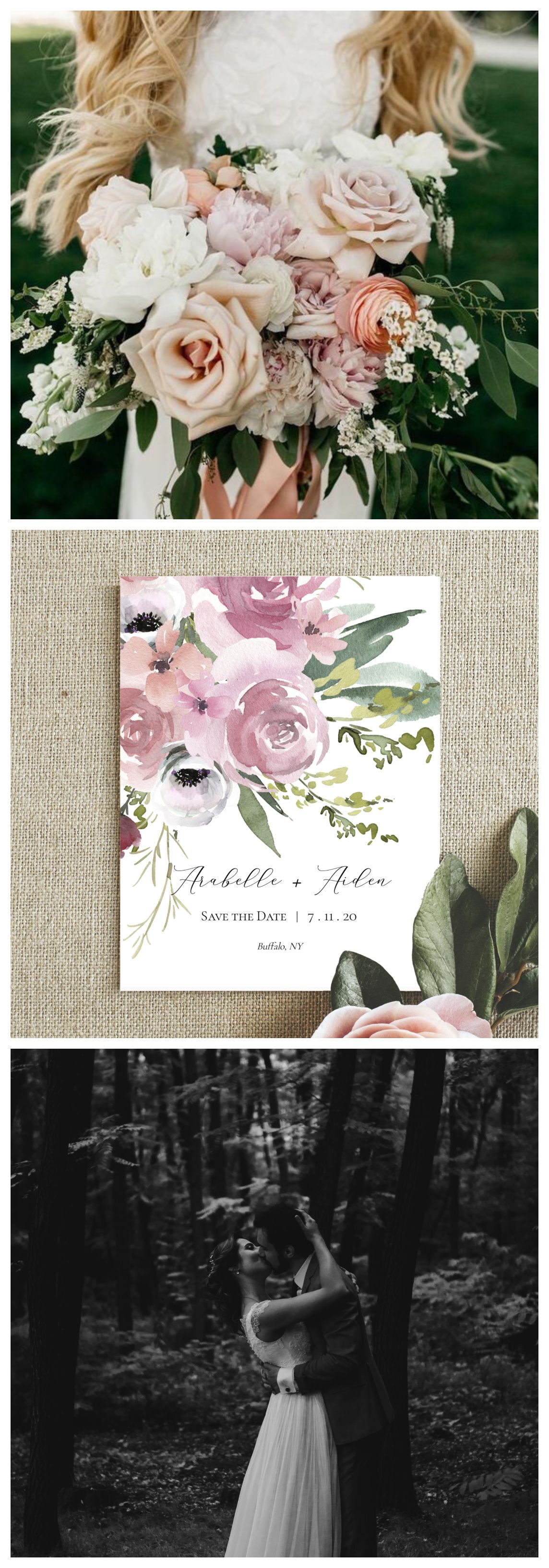 boho save the date cards    floral save the date template
