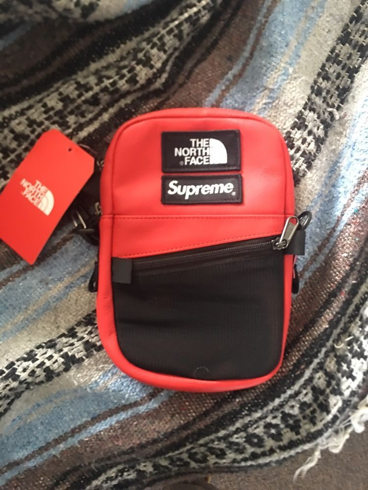 2049956cb8c058 supreme north face shoulder bag RED Leather #fashion #clothing #shoes # accessories #mensaccessories #bags (ebay link)