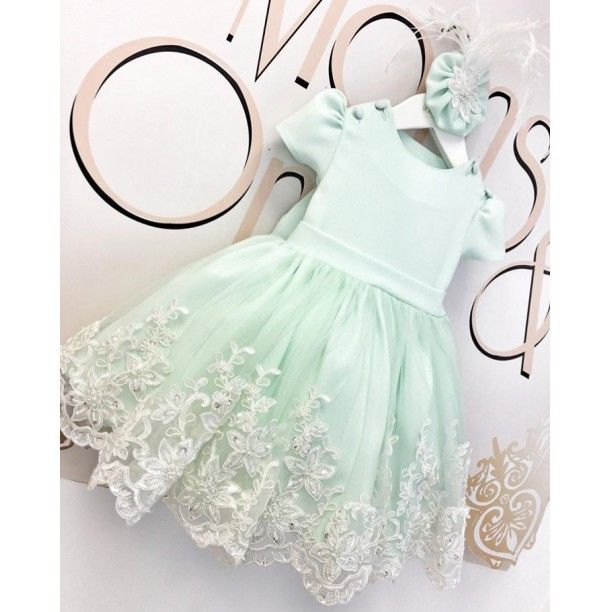 Photo of Lacy in Mint Dress- 7-9 age Clothing & Accessories> Clothing …