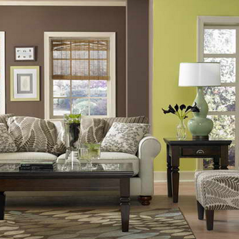 Outrageous Green And Brown Bedroom: Lime Green And Brown Living Room