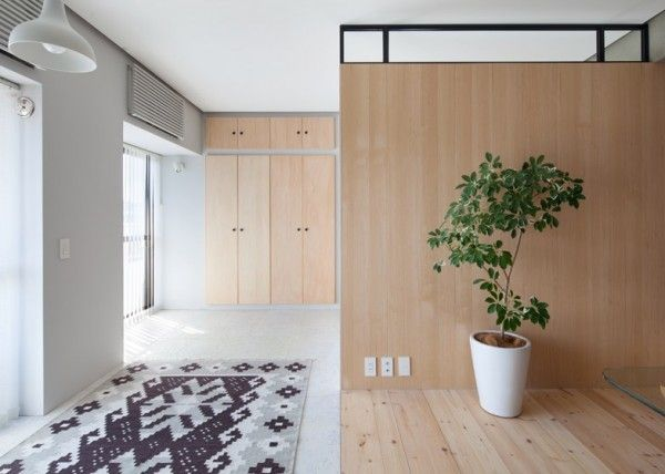 Cement and wood two apartments in modern minimalist japanese style includes floor plans